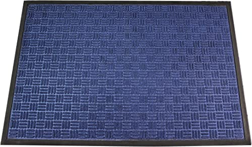 Ultralux Premium Heavy Duty Indoor Outdoor Entrance Mat 35 x 59 Absorbent, Strong, Anti-Slip Entry Rug Durable Doormat Blue Home or Office Use Multiple Sizes