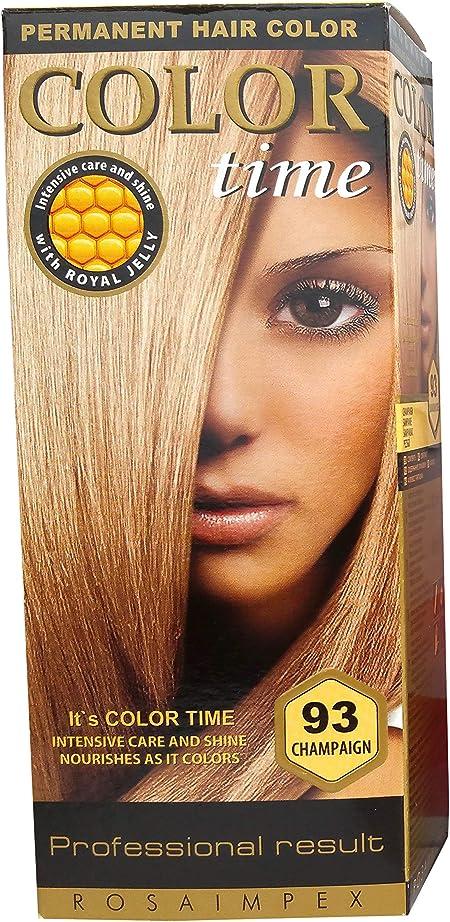 Color time, tinte permanente para el cabello de color champán 93