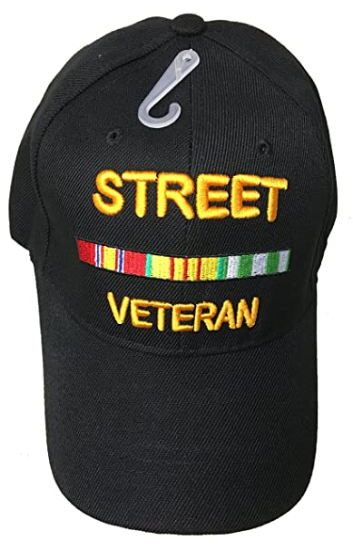 ecfd4eb7 Image Unavailable. Image not available for. Color: Street Veteran Baseball  Style Embroidered Hat Funny Novelty Ball Fun Military Cap