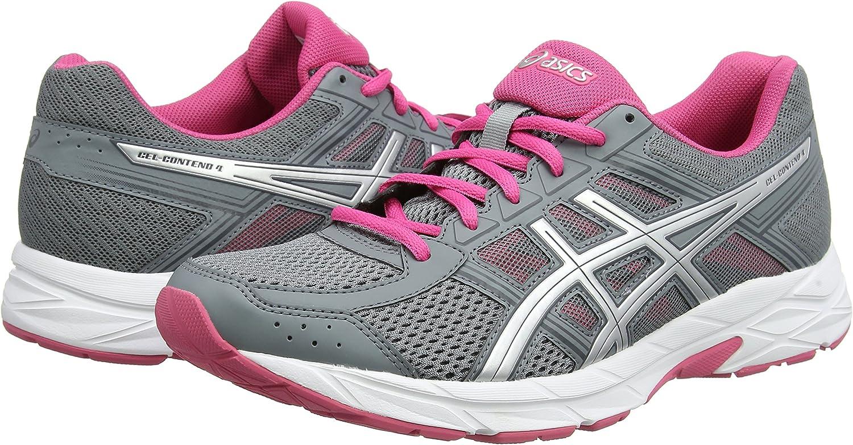Asics Gel-Contend 4, Zapatillas de Running para Mujer, Gris (Stone Greysilverhot Pink 1193), 35.5 EU: Amazon.es: Zapatos y complementos