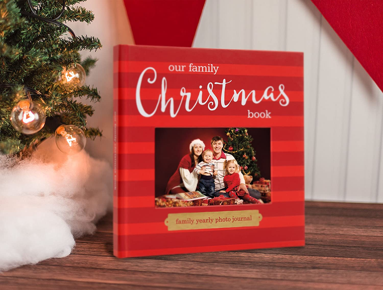 Amazon pearhead our family christmas keepsake holiday photo amazon pearhead our family christmas keepsake holiday photo memory journal red baby kristyandbryce Images