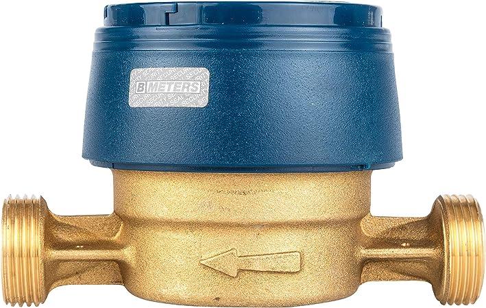 entrada de flujo nominal QN 1,5 alcance 2020 v/álido hasta 2026 Contador de agua fr/ía Protecci/ón longitud 80 mm conector 3//4 pulgadas