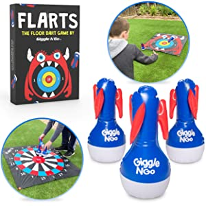 GIGGLE N GO Indoor Games or Outdoor Games for Family - Yard Games and Fun Family Games for Kids and Adults. Perfect Christmas Party Games for Families with Kids