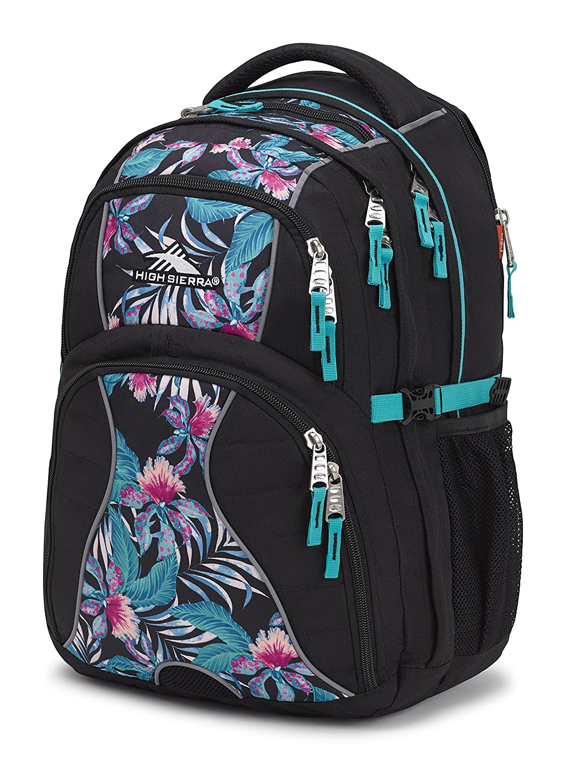 High Sierra Swerve Laptop Backpack, Great for High School, College Backpack, School Bag, Business Backpack, Travel Pack, Laptop Sleeve, Perfect for Men and Women Aquamarine/Tri Geo/White High Sierra Sport Company 53665-6721