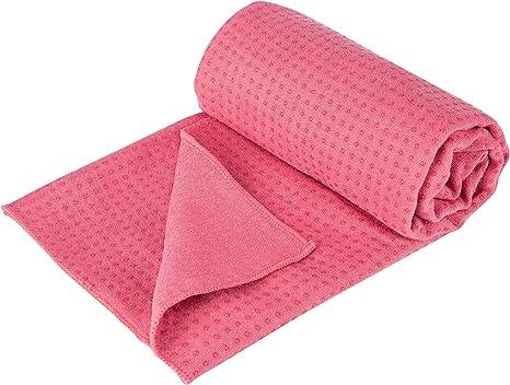 Accessotech Sport Fitness Reise /Übung Yoga Matte Cover Handtuch Decke rutschfest Pilates