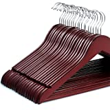 Amazon Price History for:Zober Solid Cherry Wood Suit Hangers with Non Slip Bar and Precisely Cut Notches - 360 Degree Swivel Chrome Hook - Cherry Finish Super Sturdy and Durable Wooden Hangers - 20 Pack