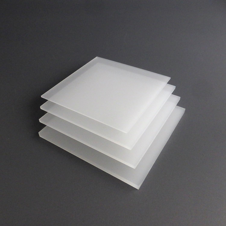 lobotec-acryl PLEXIGLAS Zuschnitt Acrylglas Zuschnitt 3-10mm wei/ß satiniert Snow 8mm, 500 x 1000 mm