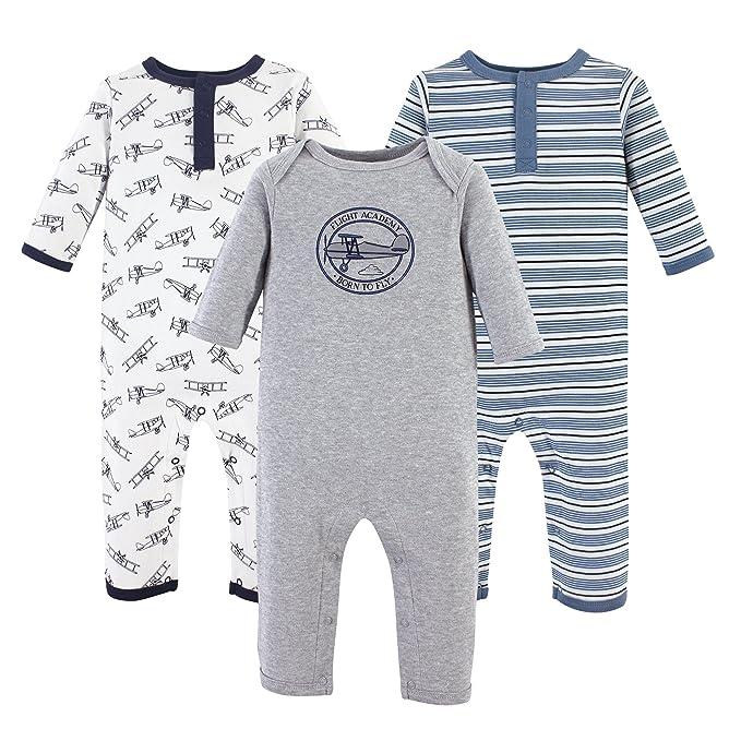 Amazon Hudson Baby Boys' Cotton Union Suit, 3 Pack $17