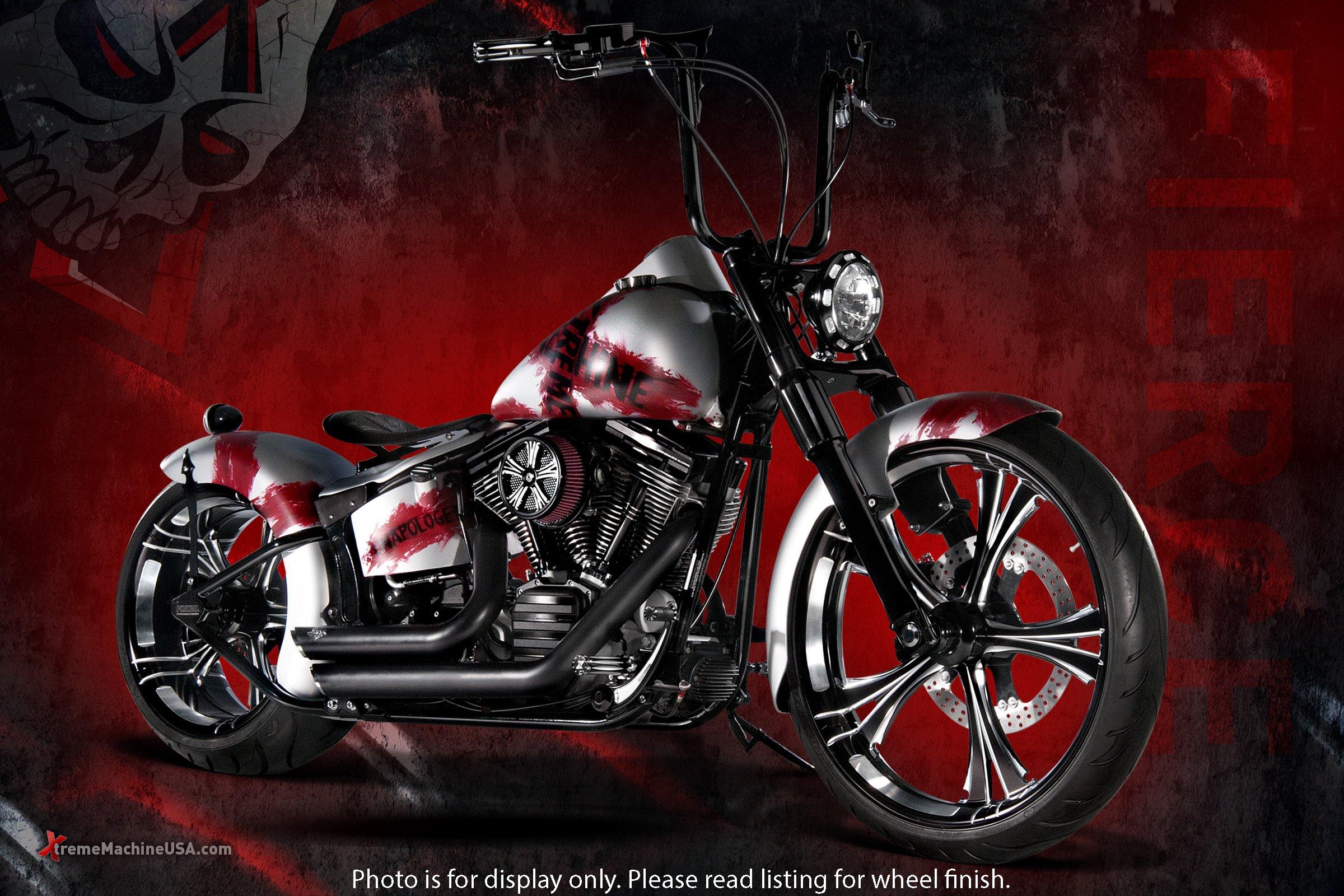 Xtreme Machine Fierce Rear Wheel - 18x5.5 - Black Cut , Color: Black, Position: Rear, Rim Size: 18 1256-7814R-XFR-BM by Xtreme Machine (Image #2)