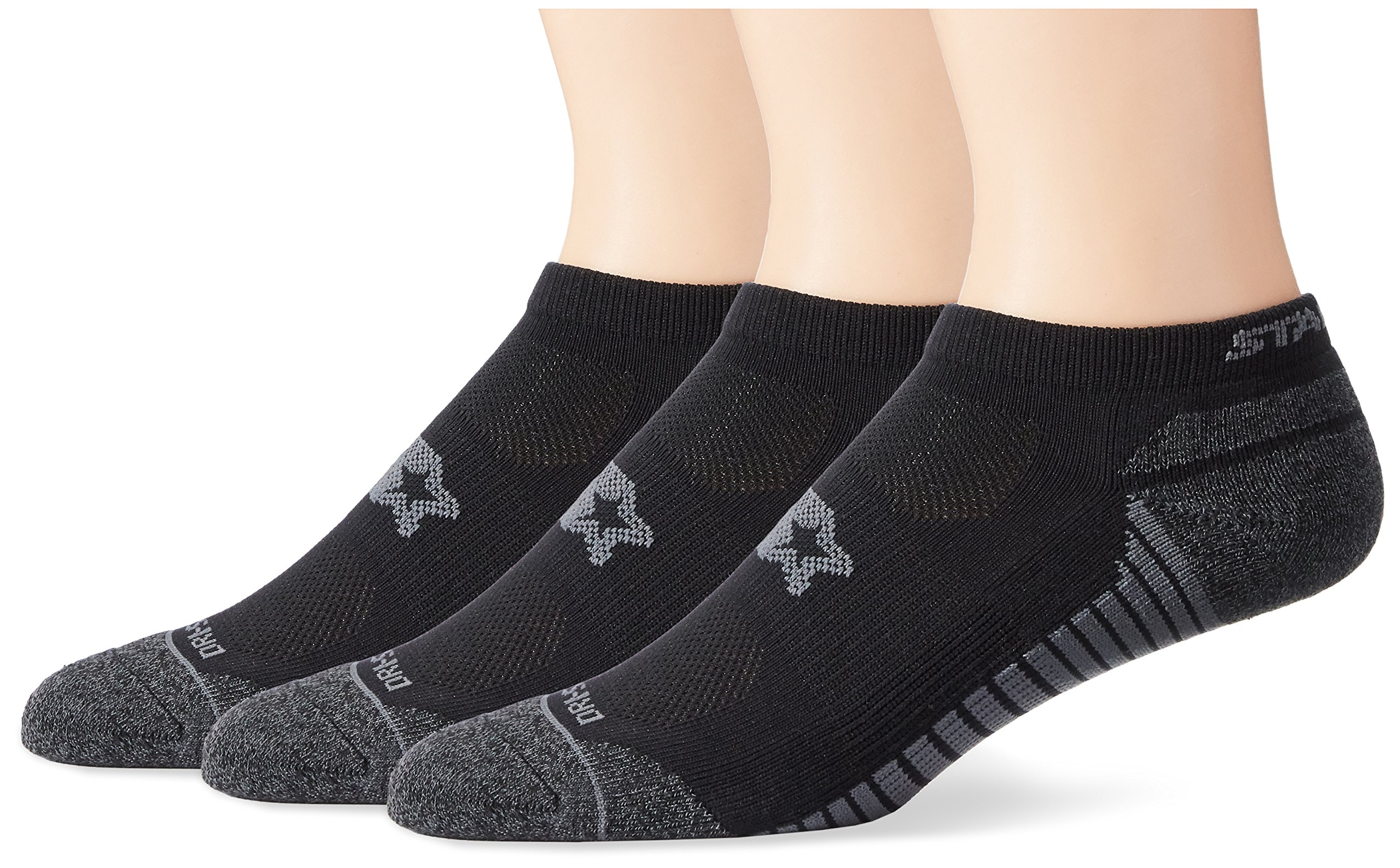 Starter Men's 3-Pack Athletic Microfiber Low-Cut Ankle Socks, Prime Exclusive, Black, Large (Shoe Size 9-12)