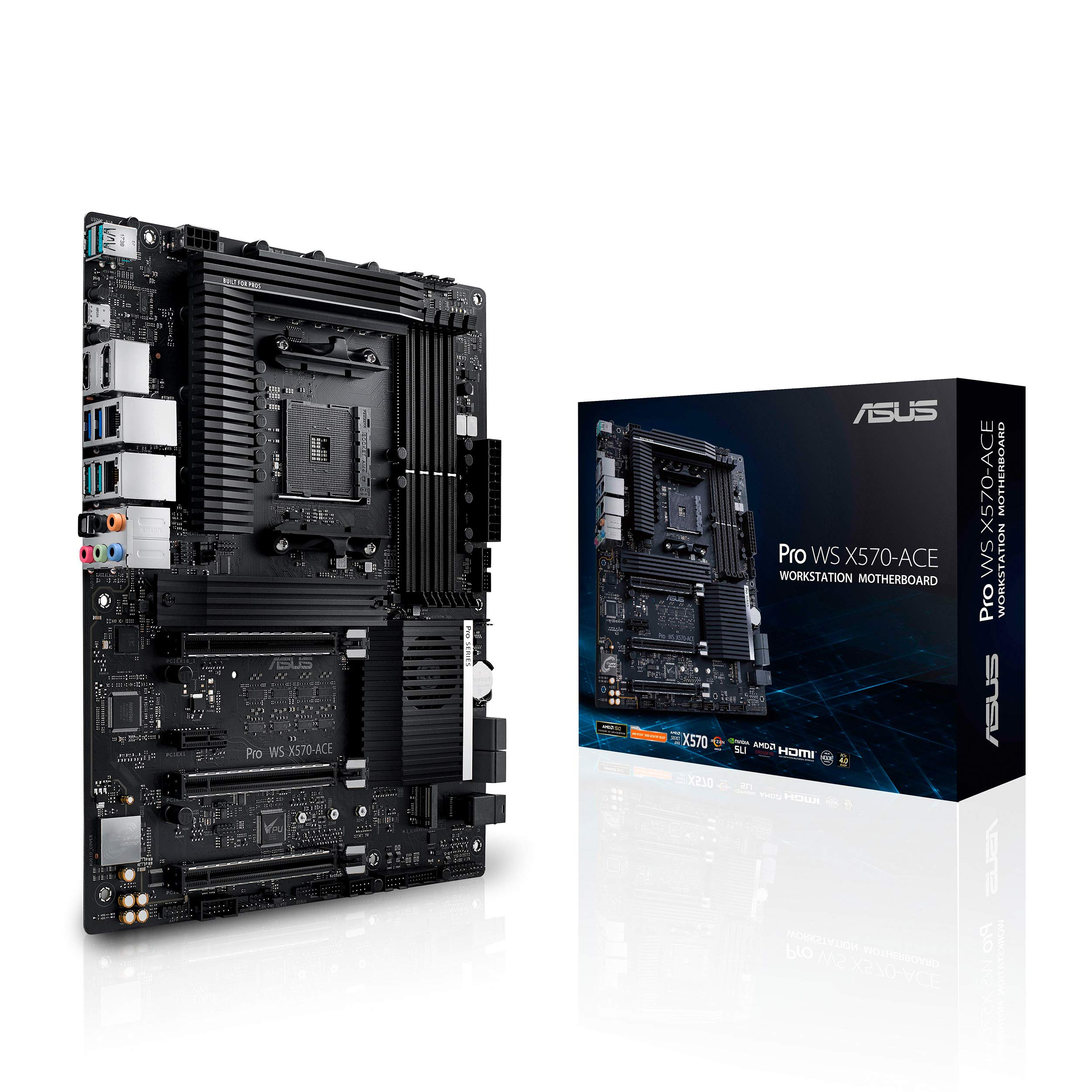 ASUS AMD AM4 Pro WS X570-Ace ATX Workstation Motherboard ...