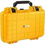 Eylar Tactical Hard Gun Case Water & Shock Proof with Foam TSA Approved 11.6 Inch 8.3 Inch 3.8 Inch (Yellow)