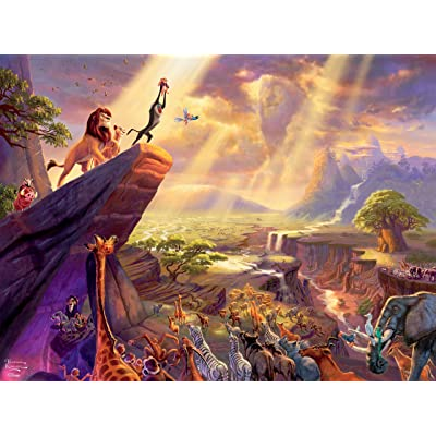 Thomas Kinkade Disney Dreams - Lion King Jigsaw Puzzle - 300 Pieces: Toys & Games
