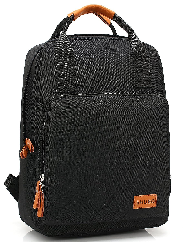 ad6c0a6cd6a7 Amazon.com | Mn&Sue Top Handle Backpack Canvas Rucksack School Book ...