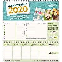 Gemeinsam-Zeit 2020 Wochen-Tischkalender für Familien, Paare & andere Dreamteams! Familienplaner als Quer-Kalender mit vielen Features und Sprüchen