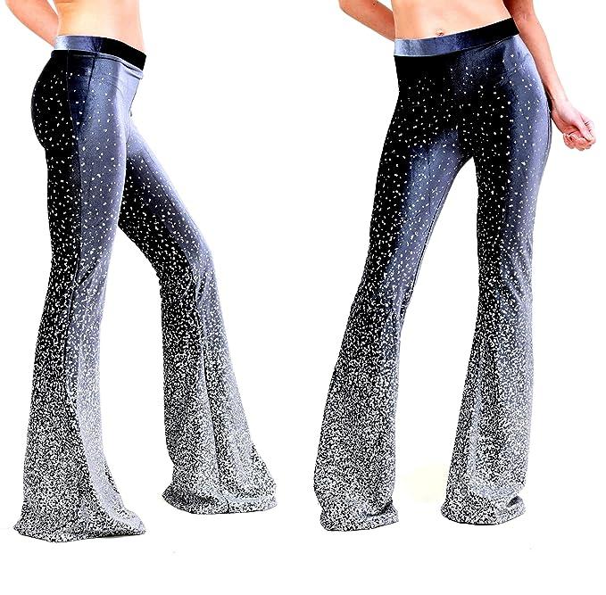AZZAVERA Grey Velvet High Waist Flare Pants Bell Bottoms ...