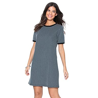 632d6c75703 VENCA Short-Sleeved Knit Dress with Geometric Design - 001364 ...