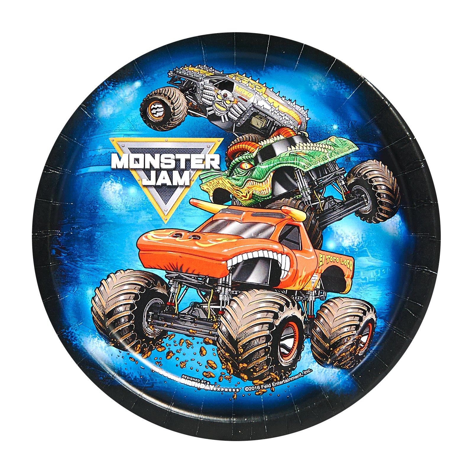 BirthdayExpress Monster Jam Party Supplies - Dessert Plate (48)