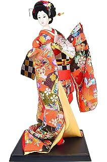 Amazon.com: Japonés Kimono Geisha – Figura decorativa de ...