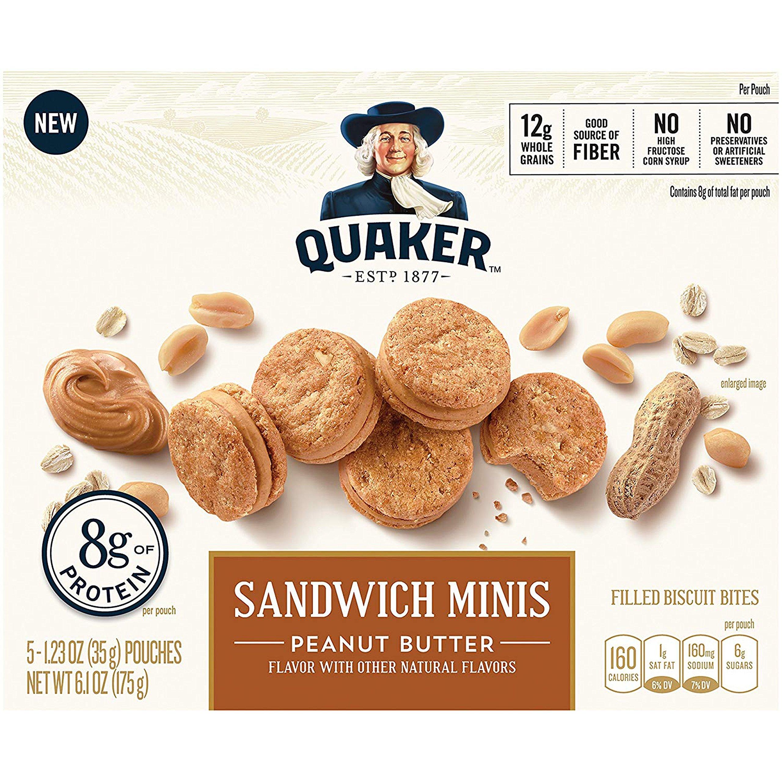 Quaker Sandwich Minis, Peanut Butter, 3.5 Pound  (6 COUNT) by Quaker