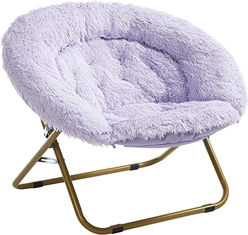 Urban Shop Mongolian Faux Fur Oversized Saucer Chair
