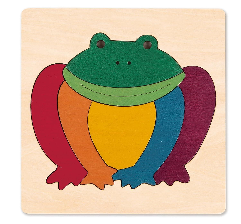 Hape George Luck Rainbow Frog Wood Puzzle 8 Piece