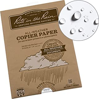 """product image for Rite In The Rain Weatherproof Laser Printer Paper, 8 1/2"""" x 11"""", 20# White, 50 Sheet Pack (No. 8511-50)"""