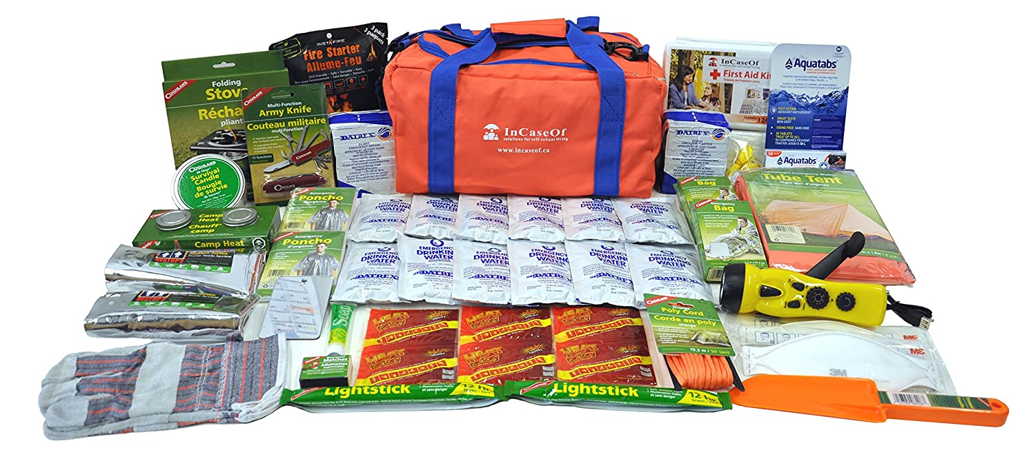 72 Hour Emergency Survival Kit - 2 Person Deluxe In Case Of