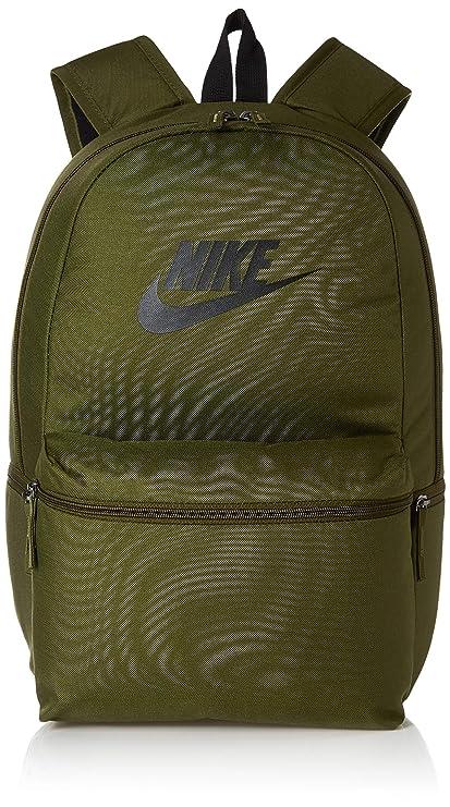 06ac9cfab82e6 Nike Unisex-Erwachsene Nk Heritage Bkpk Rucksack Mehrfarbig (Olive  Canvas Black B
