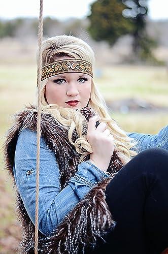 Amazon.com  Black Gold Orange Boho Headband - Forehead Headband - Bohemian  Gypsy Headbands - Hippie Headband - Tribal Patterned Head Wrap  Handmade 984af2b8b00