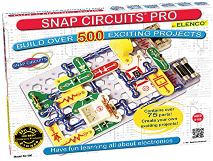 amazon com snap circuits pro sc 500 electronics exploration kit