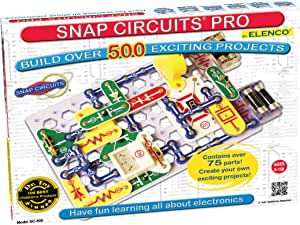 Snap Circuits Pro SC-500 Electronics Exploration Kit | Over 500 Projects | Full Color Project Manual | 75 + Snap Circuits Parts | STEM Educational Toy for Kids 8 +