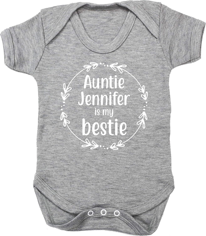 Short Sleeve Boys Girls Hippowarehouse Personalised Auntie Any Name is My Bestie Baby Vest Bodysuit