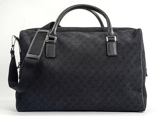 Amazon.com  Gucci GG Guccissima Black Denim Duffle Bag  Shoes cc2f7106012