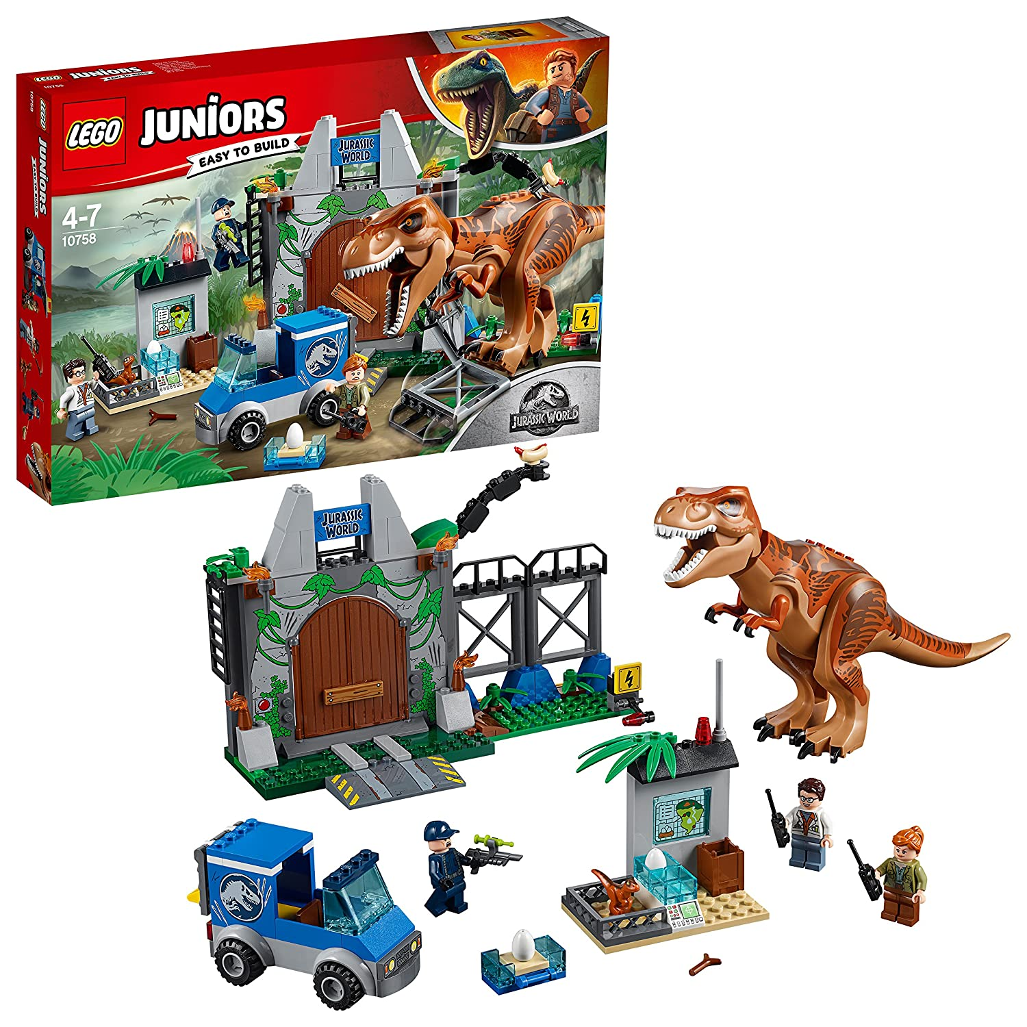 LEGO Juniors Jurassic World - L'évasion du tyrannosaure - 10758 - Jeu de Construction