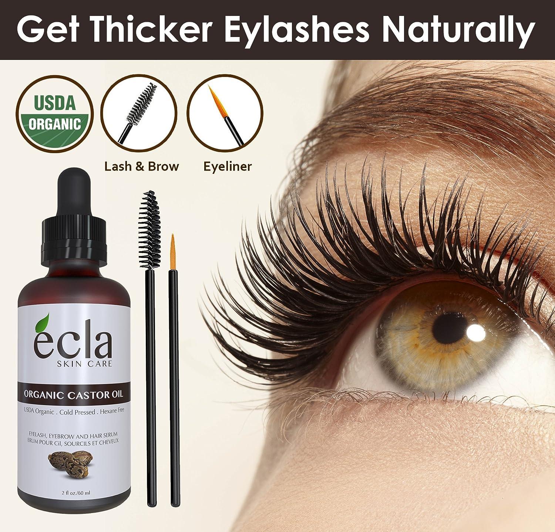 Amazon Organic Castor Oil Eyelash Eyebrow Growth Serum 100