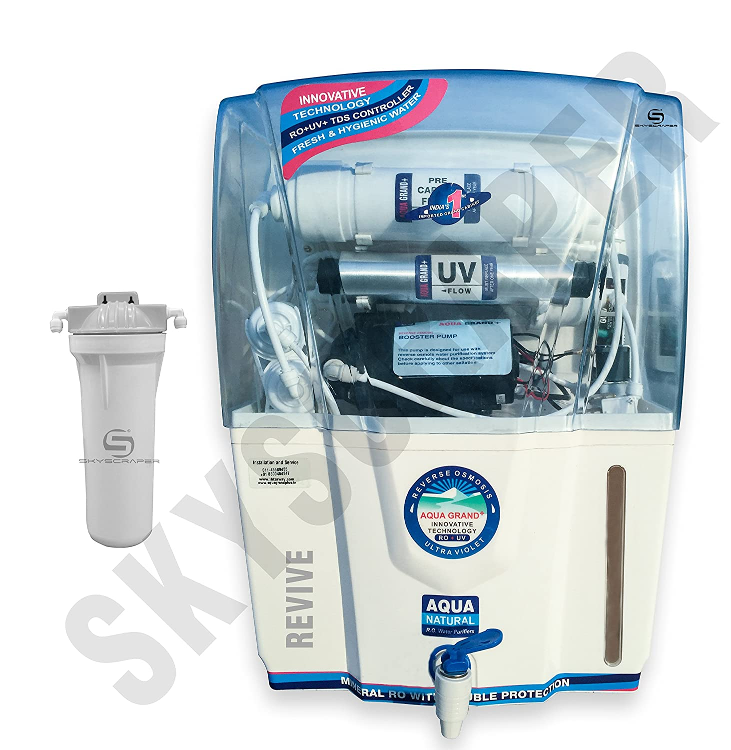 Aquagrand Plus Revive 12L 14-Stage RO UV UF TDS Mineral Water ...