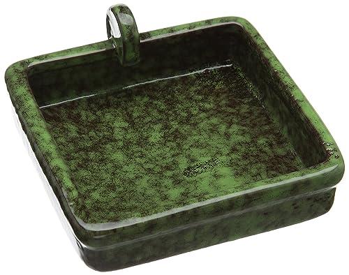 Wildlife World Hedgehog Snack Bowl, Green/Brown Glazed Finish