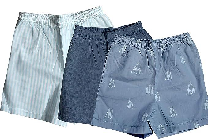 d89bd457e JSR Kids Boys Summer Night Shorts nickers 100% Cotton Woven Combo Set Pack  of 3