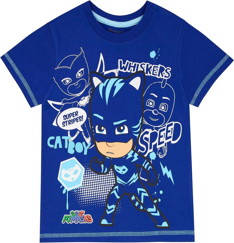 PJ Masks Camiseta de Manga Corta para niños Catboy Azul 9-10 Años: Amazon.es: Ropa y accesorios