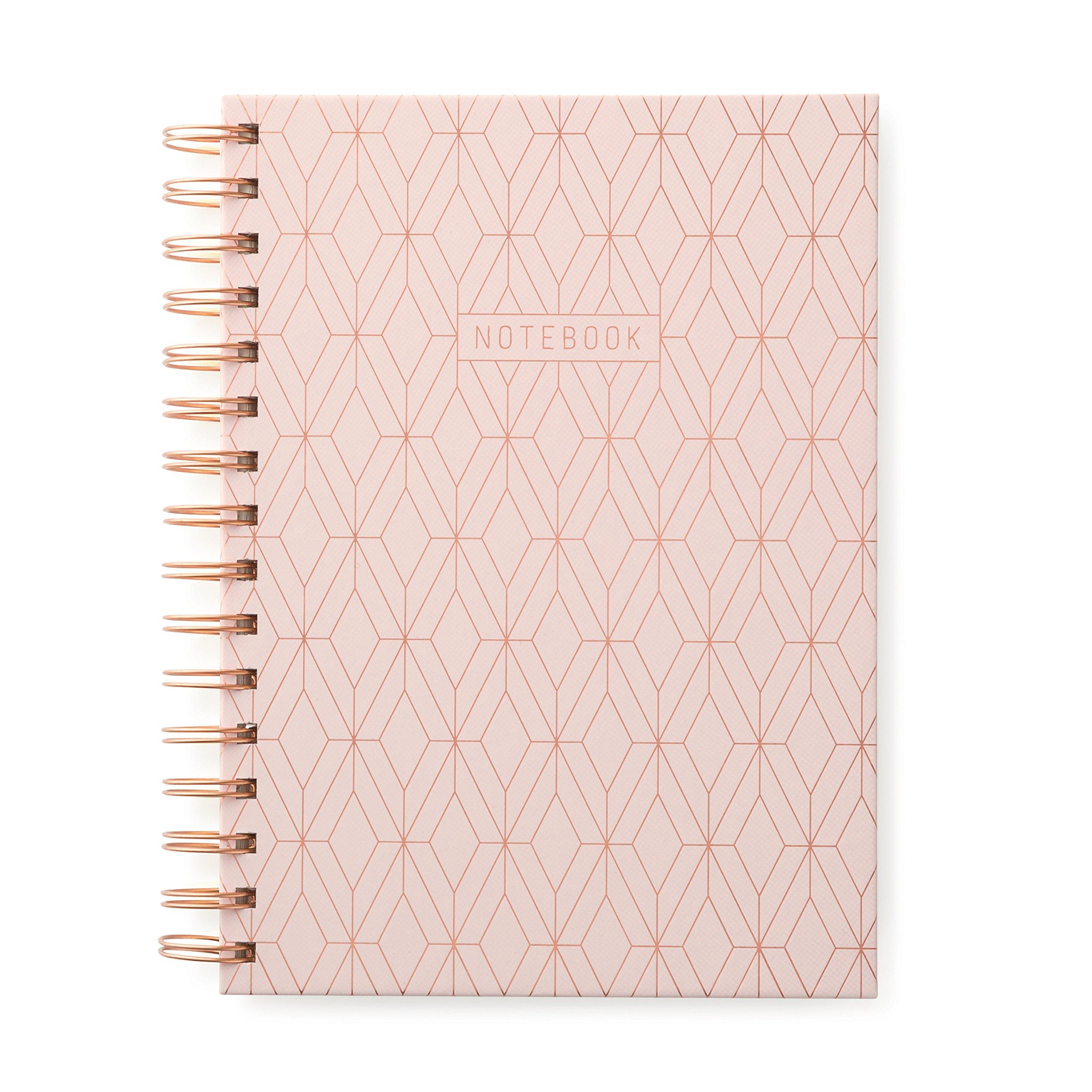 DesignWorks Ink Twin Wire Bound Journal, Copper Geo (Pink) by DesignWorks Ink