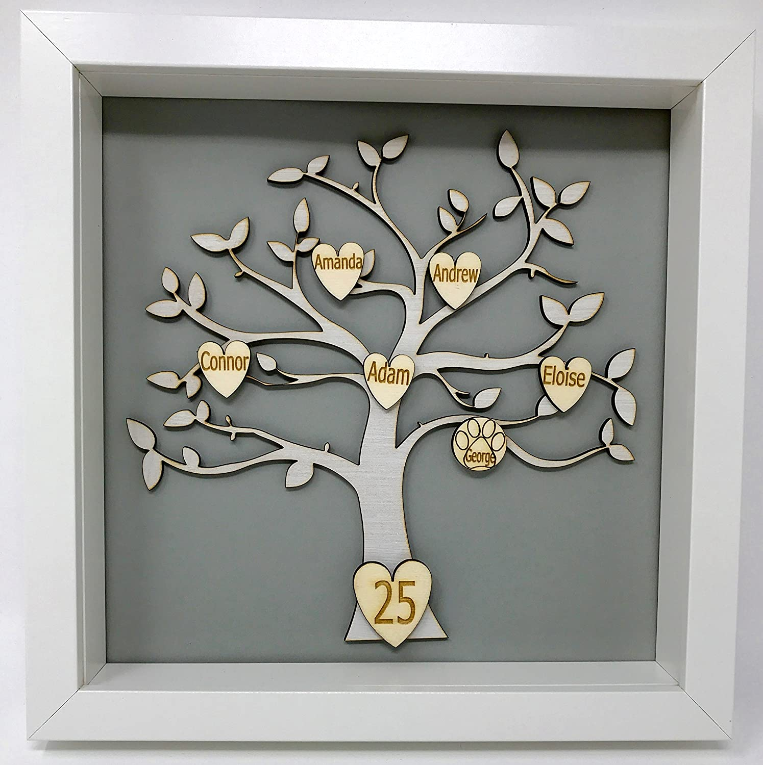 Family Tree of Life Frame Personalised With Up To 10 Names: Amazon ...