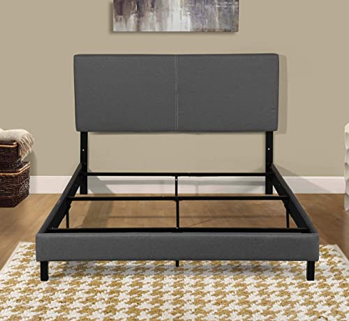 Container Furniture Direct Modern Shrunk Panel Upholstered Platform Bed