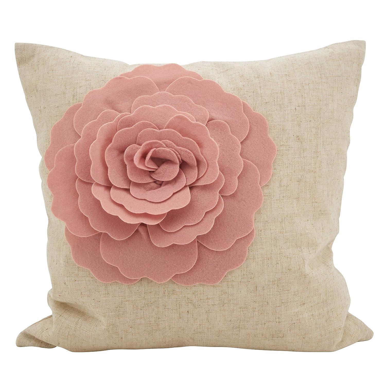 Amazon.com: Blush - Cojín para sofá de rosa, tamaño mediano ...