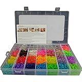 6000 DIY SET Mixed Colour Rainbow Rubber Loom Bands Bracelet Making Kit S-Clips