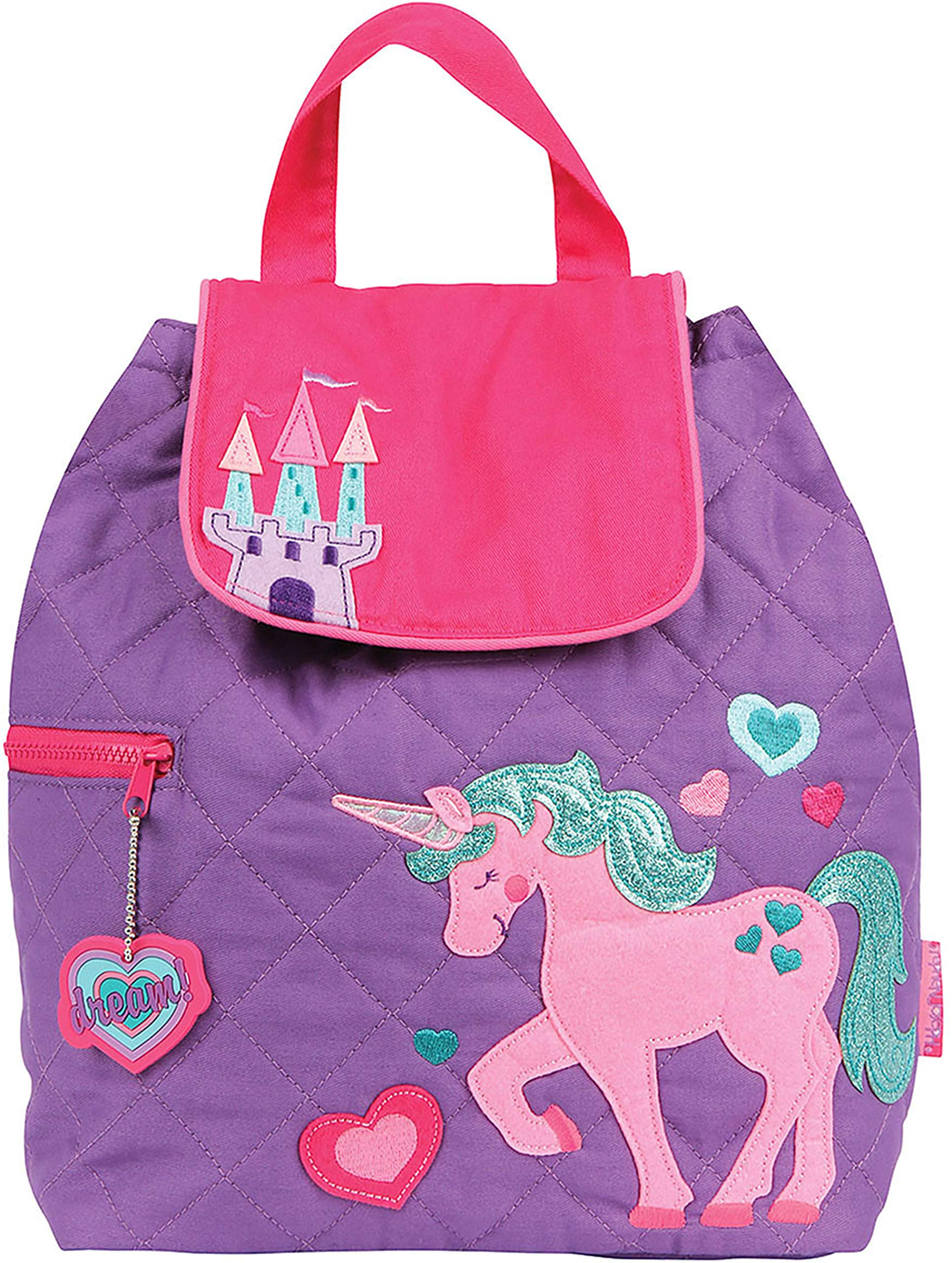 Stephen Joseph Quilted Backpack, Unicorn, One size