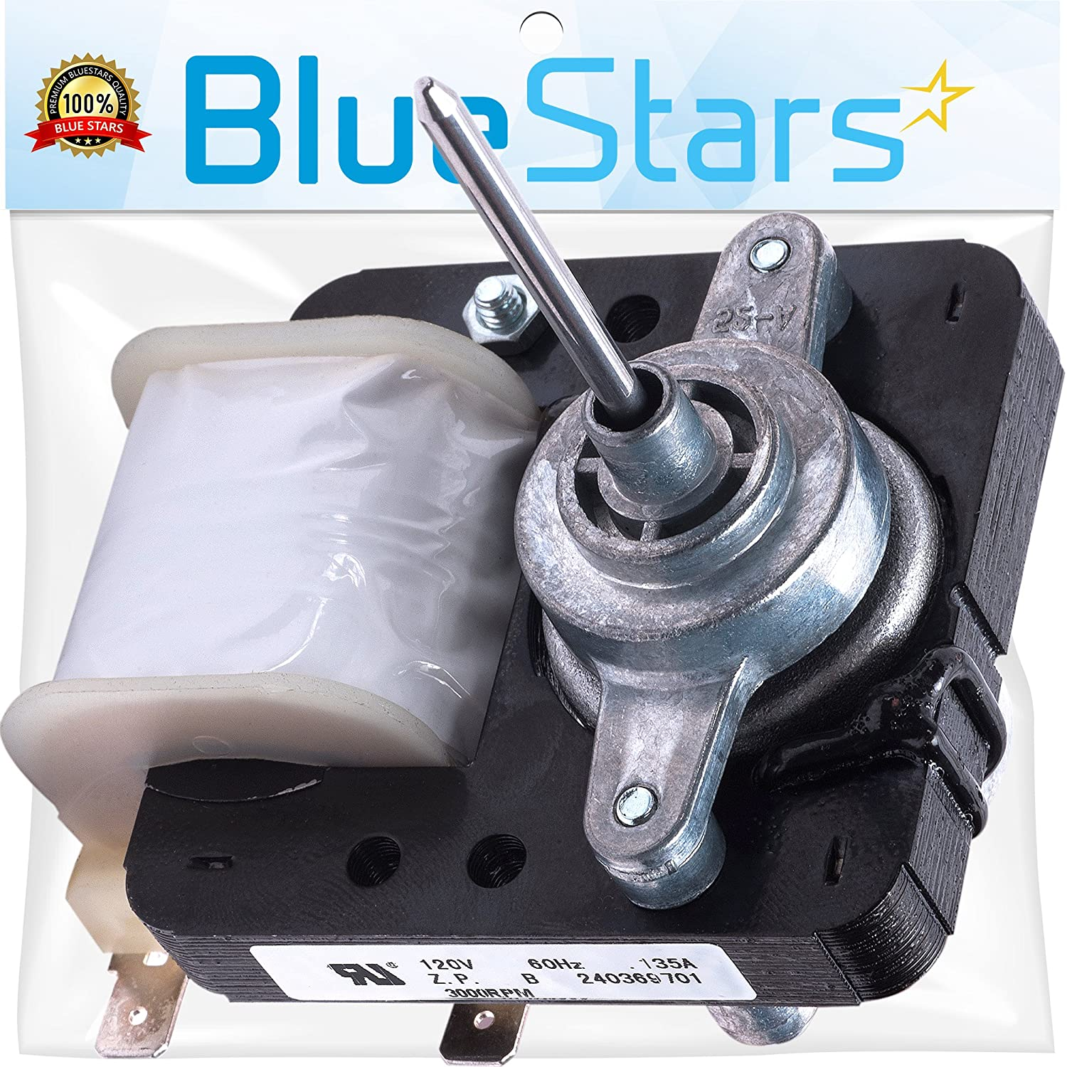 Ultra Durable 240369701 Refrigerator Evaporator Fan Motor Replacement part by Blue Stars - Exact Fit for Frigidaire Kenmore Electrolux fridges - Replaces AP4700070, PS3419839, 5303918549