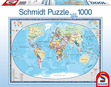 Schmidt geographical world map puzzle 1000 pieces german amazon schmidt geographical world map puzzle 1000 pieces german gumiabroncs Images