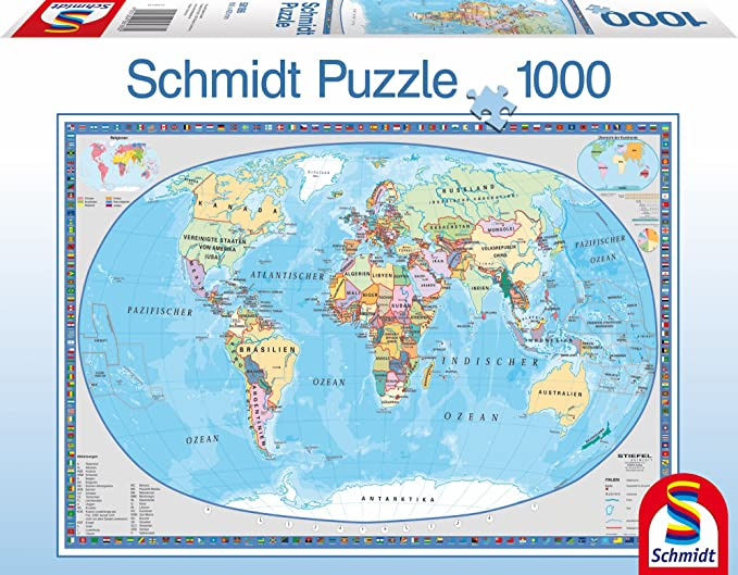 Schmidt geographical world map puzzle 1000 pieces german amazon schmidt geographical world map puzzle 1000 pieces german amazon toys games gumiabroncs Choice Image