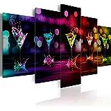 Bilder 200x100 cm - XXL Format - Fertig Aufgespannt – TOP - Vlies Leinwand - 5 Teilig - Wand Bild - Kunstdruck - Wandbild - Abstrakt Kunst 030107-2 200x100 cm B&D XXL murando
